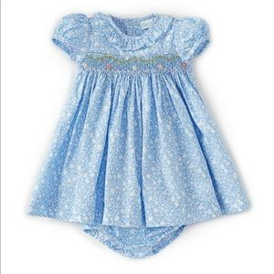 Baby Girls 18M Smocked Floral A-Line Dress